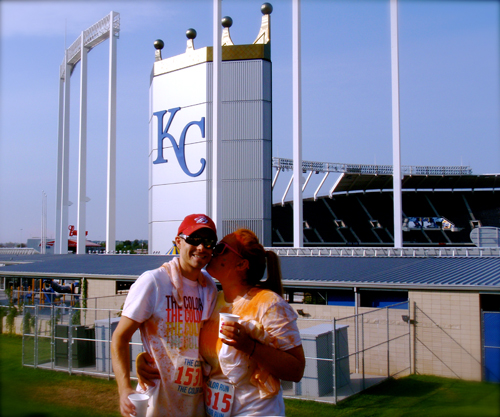 5K, color run, kansas city, first time runners, royals stadium, kiss my man