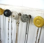 pinterest, knobs, necklaces, pallet, DIY, craft, yellow, jewlery, challenge