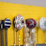 pinterest, knobs, necklaces, pallet, DIY, craft, yellow, jewlery, challenge