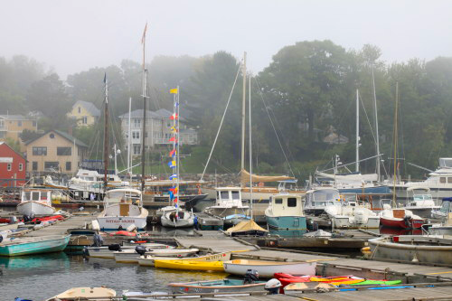 boats are everywhere East Coast Road Trip   We are moving to Maine