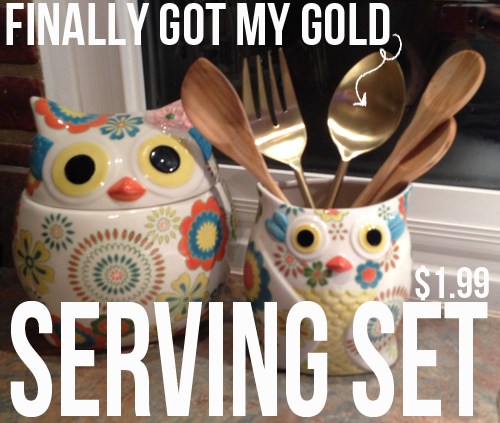 gold serving set