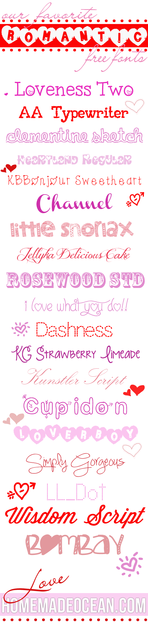 love-ly fonts