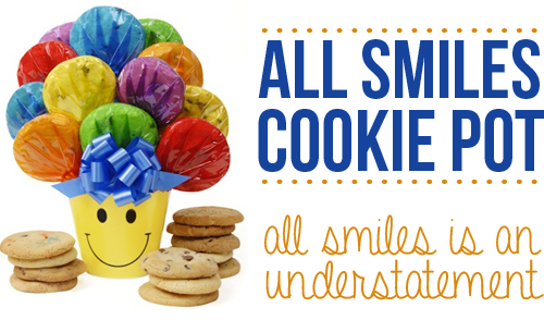 all smiles cookie pot