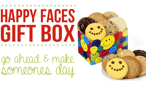 happy faces cookie box gift box set