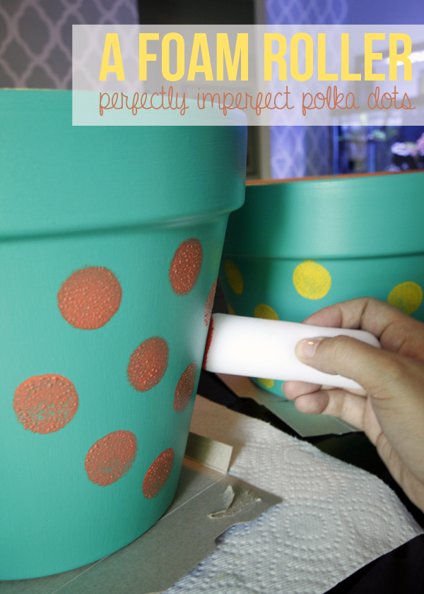 making the planters polks dots