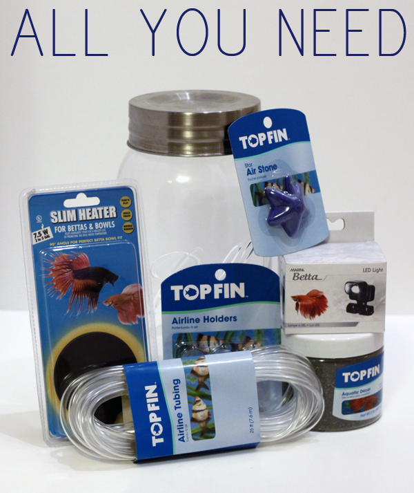 MASON JAR AQUARIUM SUPPLIES