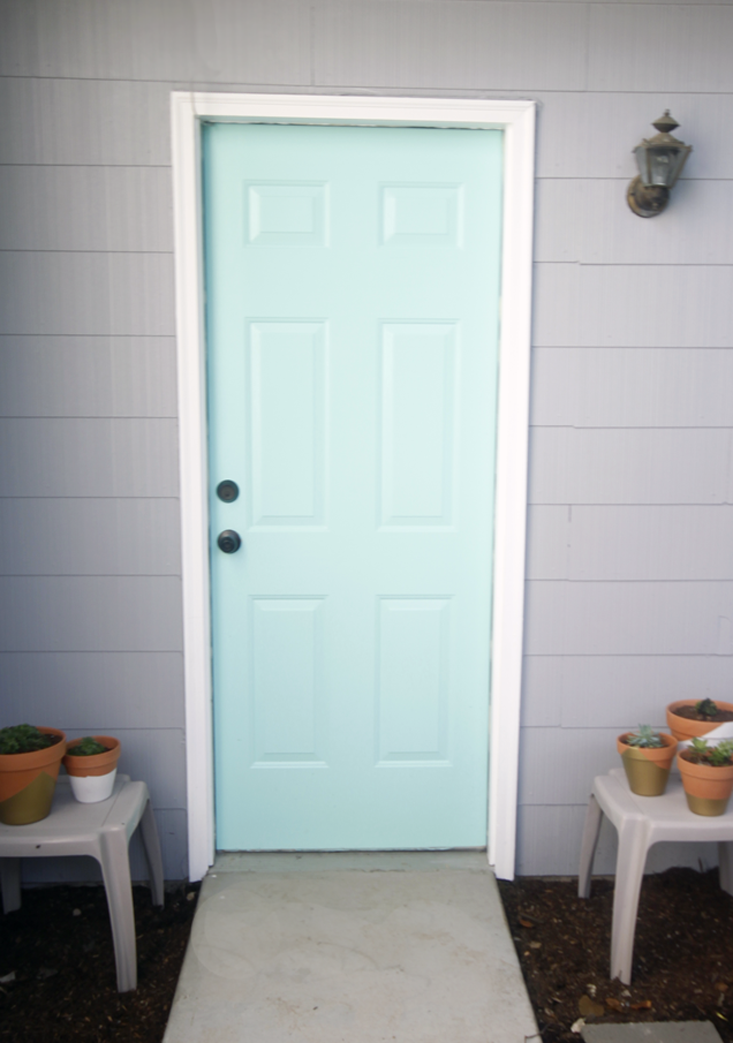 our-new-teal-back-door